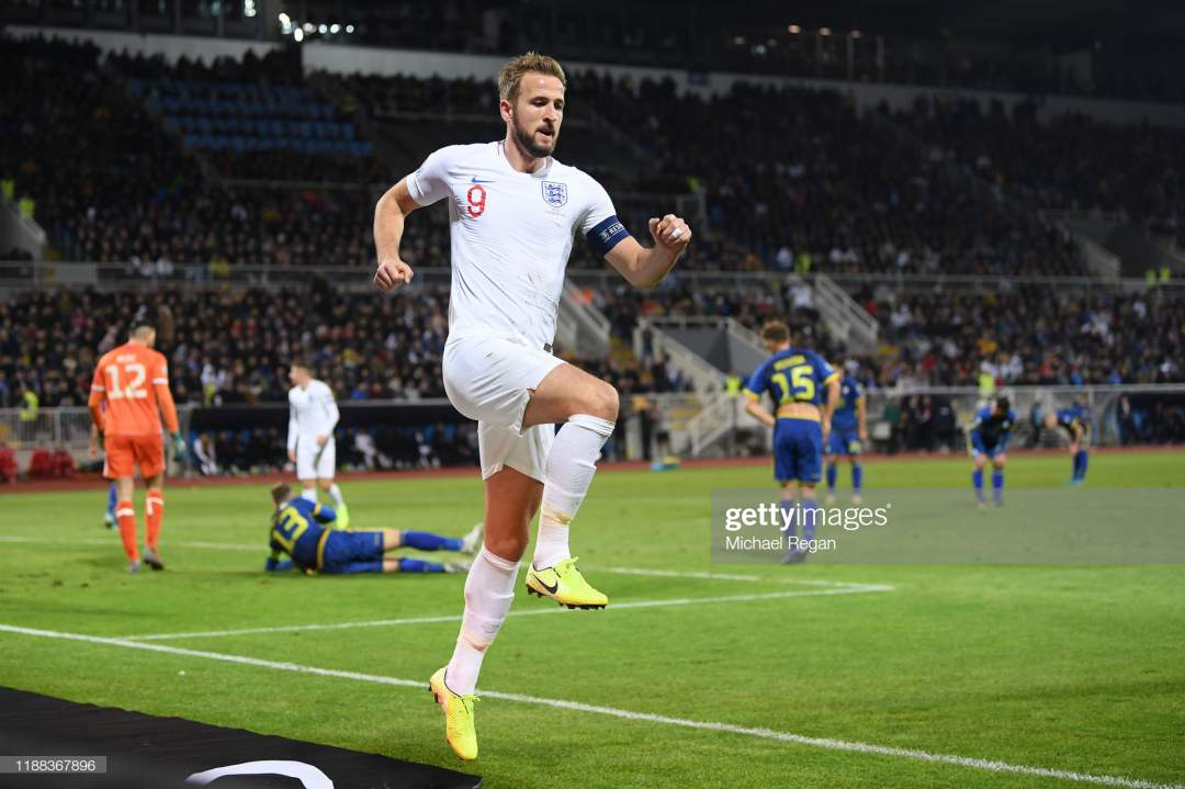 Harry Kane Of England Celebrates His Goal To Make It 20 During The Picture Id1188367896?s=28