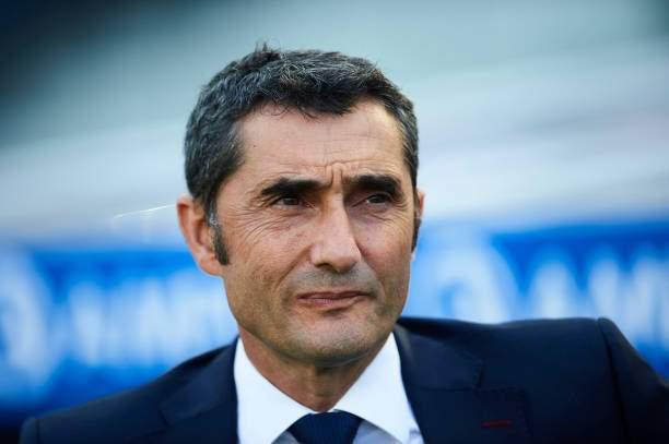 Head Coach Of Fc Barcelona Ernesto Valverde Looks On During The La Picture Id1033663528?k=6&m=1033663528&s=&w=0&h=52uV2bxJnGLaFynyIvR9nPYg6mKkjrkqcZmntg4rnXc=