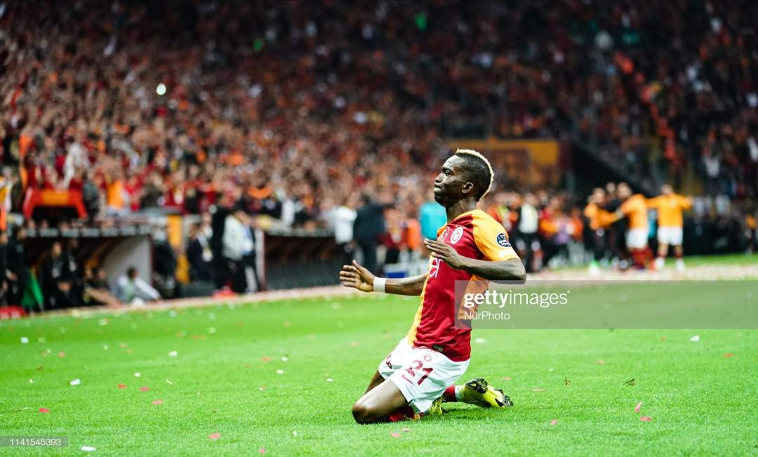 Henry Onyekuru Of Galatasaray Celebreating The Goal To 10 In The 44th Picture Id1141545393?s=28