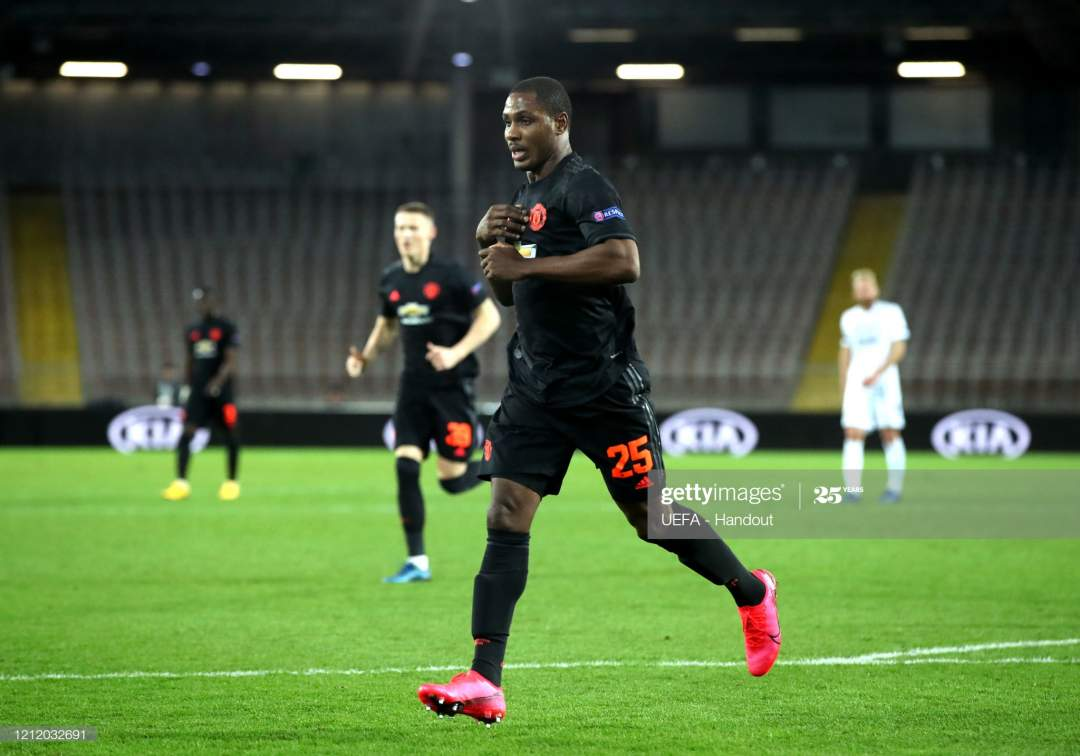 In This Handout Image Provided By Uefa Odion Ighalo Of Manchester Picture Id1212032691?s=28