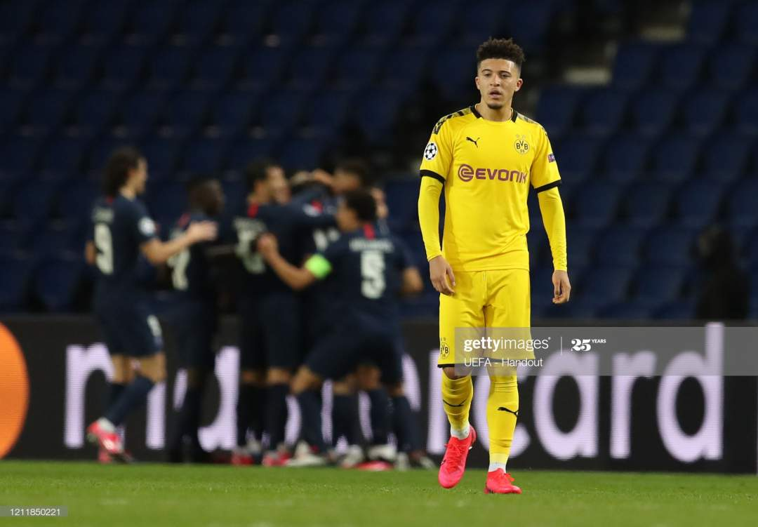 In This Handout Image Provided By Uefa Jadon Sancho Of Borussia To Picture Id1211850221?s=28