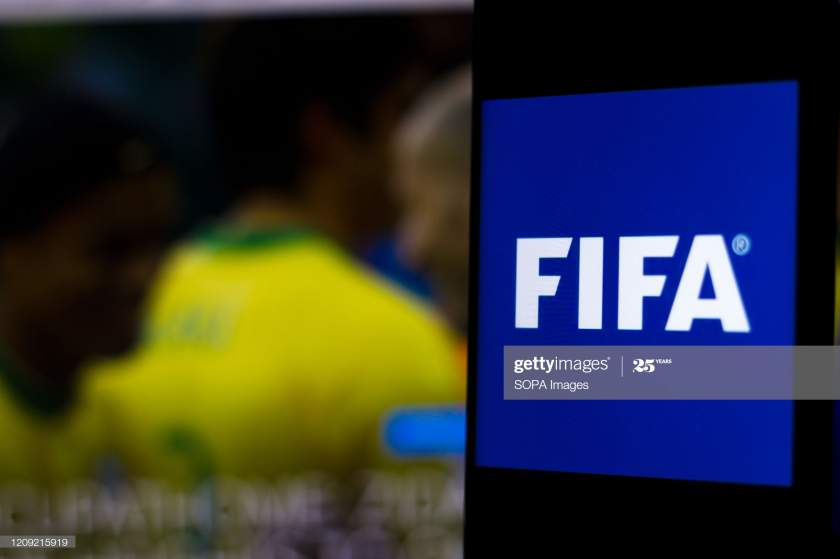 In This Photo Illustration A International Football Federation Logo Picture Id1209215919?s=28