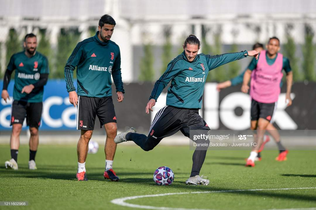 Juventus Player Adrien Rabiot During A Training Session At Jtc On 10 Picture Id1211602968?s=28