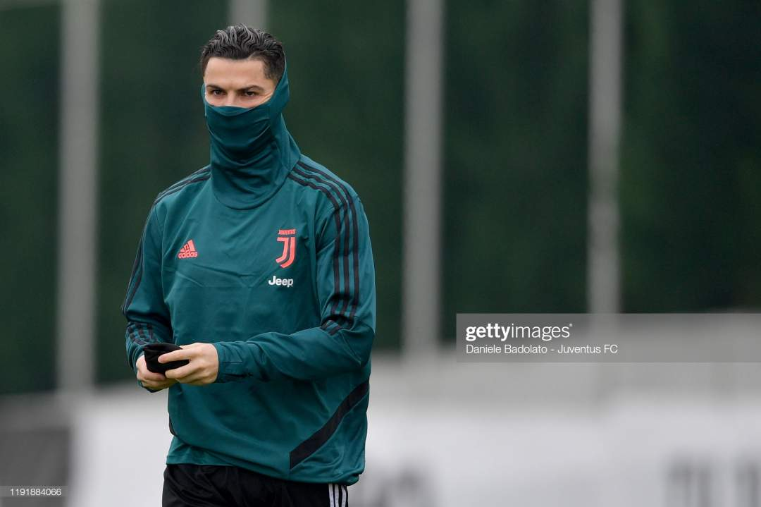 Juventus Player Cristiano Ronaldo During A Training Session At Jtc On Picture Id1191884066?s=28
