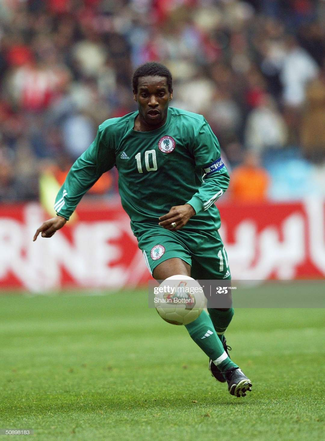 Jay Jay Okocha Of Nigeria Runs With The Ball During The African Cup Picture Id50898183?s=28