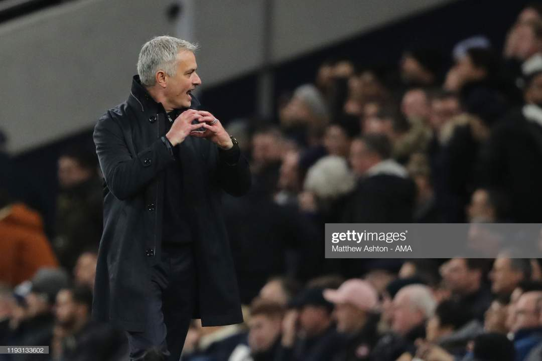 Jose Mourino The Head Coach Manager Of Tottenham Hotspur During The Picture Id1193133602?s=28
