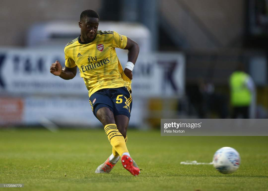 Joseph Olowu Of Arsenal U21 In Action During The Leasingcom Trophy Picture Id1170586779?s=28