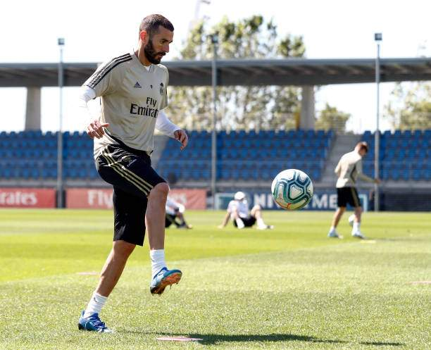 Karim Benzema Of Real Madrid During The Teams Training Session During Picture Id1214448743?k=6&m=1214448743&s=&w=0&h=043ZEysaCtckb1bhXc0cgozo92ma3Afbe4MPDUoHxng=