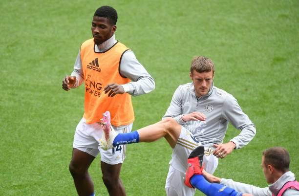 Kelechi Iheanacho Of Leicester City And Jamie Vardy Of Leicester City Picture Id1254229020?k=6&m=1254229020&s=&w=0&h=hg2mW8NWYHiHg0I8vvpj Nb6H4CjSScaAovT9GgLTqk=