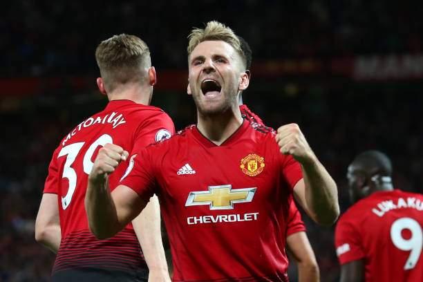 Luke Shaw Of Manchester United Celebrates Scoring A Goal To Make The Picture Id1014660546?k=6&m=1014660546&s=&w=0&h= HC3lXqO6V2NzRPkMWAtS1Ne0prUzXH6e2tsCc 9BX4=