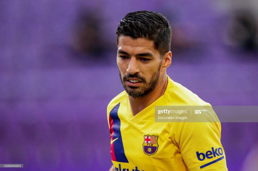 Luis Suarez Of Fc Barcelona During The La Liga Santander Match Real Picture Id1226345324?s=28