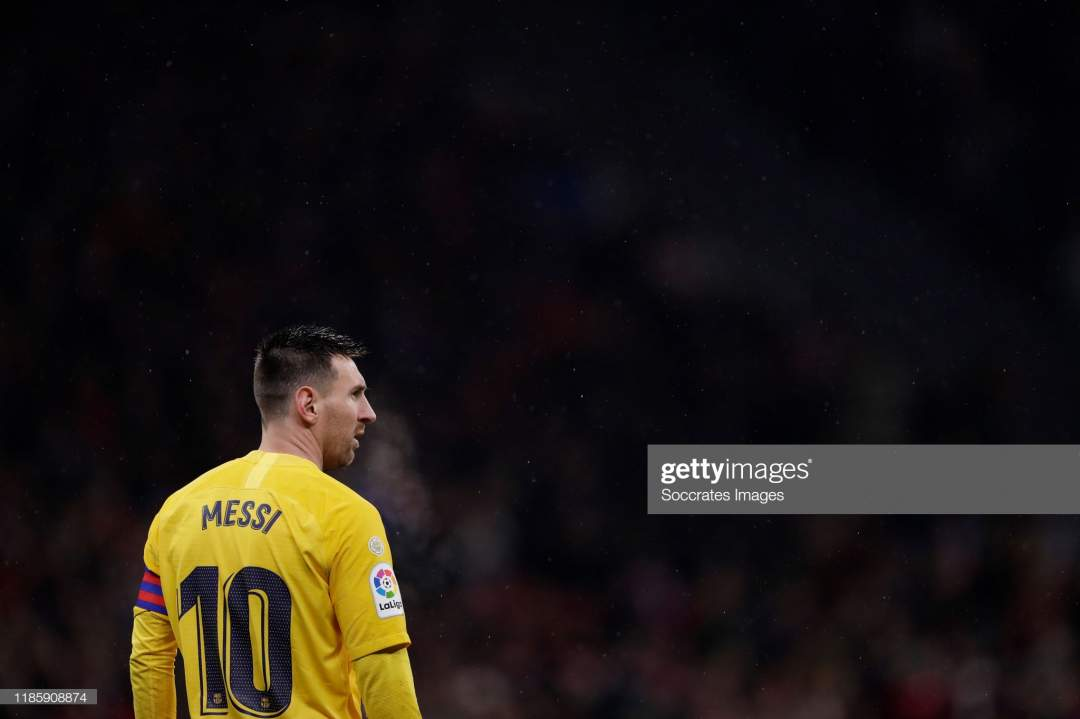 Lionel Messi Of Fc Barcelona During The La Liga Santander Match V Picture Id1185908874?s=28