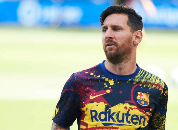 Lionel Messi Of Fc Barcelona Reacts During The Liga Match Between Picture Id1257184410?k=6&m=1257184410&s=&w=0&h=Q0xHyANhzfVEpQo 8Rn0eIdwKMPL52pihA44fo76REM=