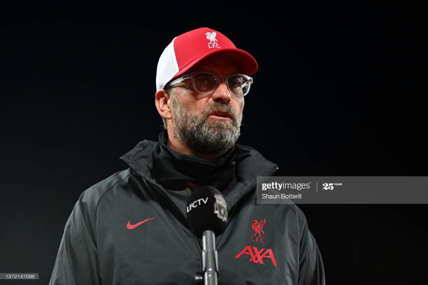 Liverpool Manager Jurgen Klopp Talks To The Media After The Premier Picture Id1272147098?s=28
