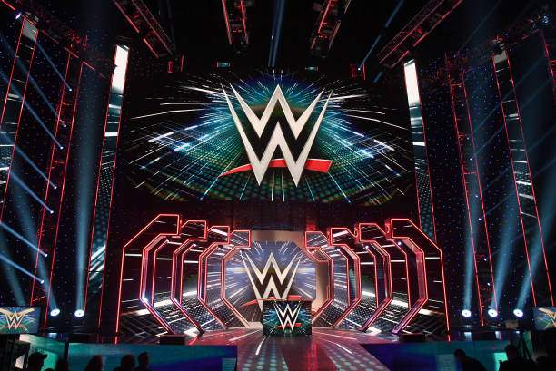 Logos Are Shown On Screens Before A Wwe News Conference At Tmobile Picture Id1180515732?k=6&m=1180515732&s=&w=0&h=WtxqzZ8yUQpZZQorihlgiWc6Kz01YmVPHYy2PrcM VQ=