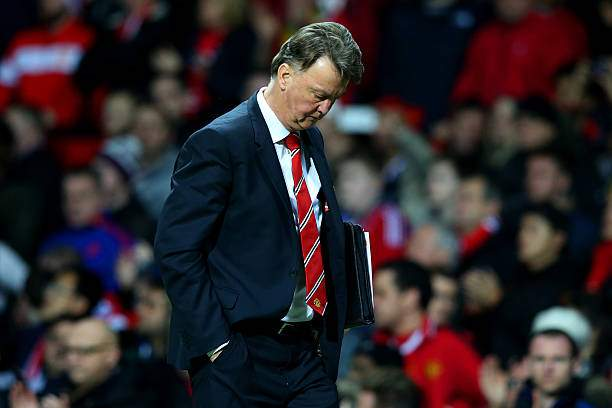 Louis Van Gaal Manager Of Manchester United Looks On As He Walks Back Picture Id502713552?k=6&m=502713552&s=&w=0&h=dOA2bz4i19A9 DZwYS93BLX0g KP XhsP3CUteEgZ0s=