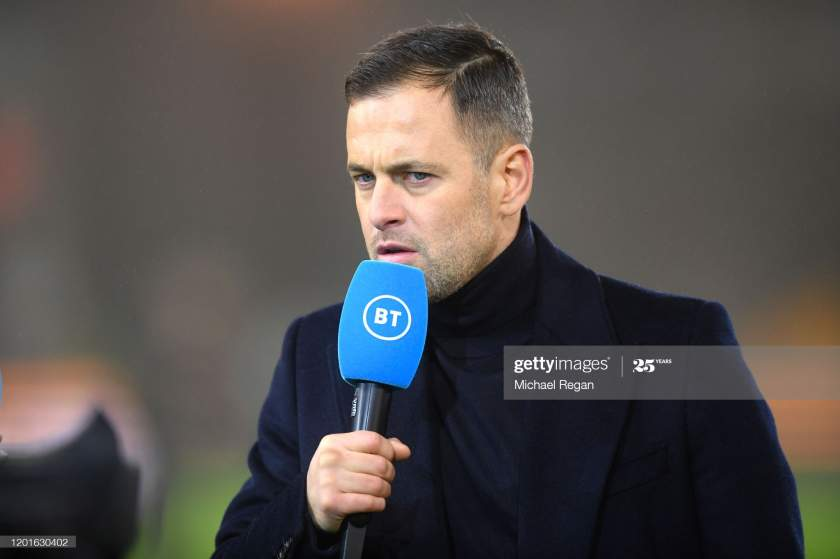 Pundit Joe Cole Looks On During The Premier League Match Between Picture Id1201630402?s=28