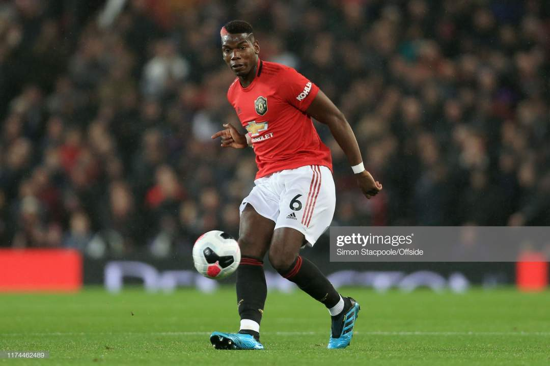 Paul Pogba Of Man Utd In Action During The Premier League Match Picture Id1174462489?s=28