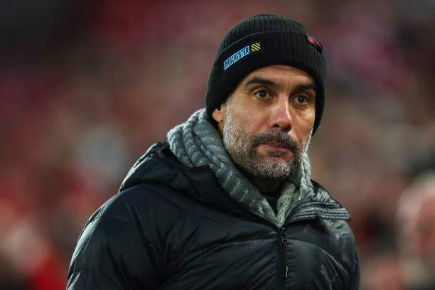 Pep Guardiola The Head Coach Manager Of Manchester City Uring The Picture Id1181677517?k=6&m=1181677517&s=&w=0&h=D_kf9MgNkvRq4vvBo4cQkSt2PDDrF4Rznm9sDZfh6Gs=