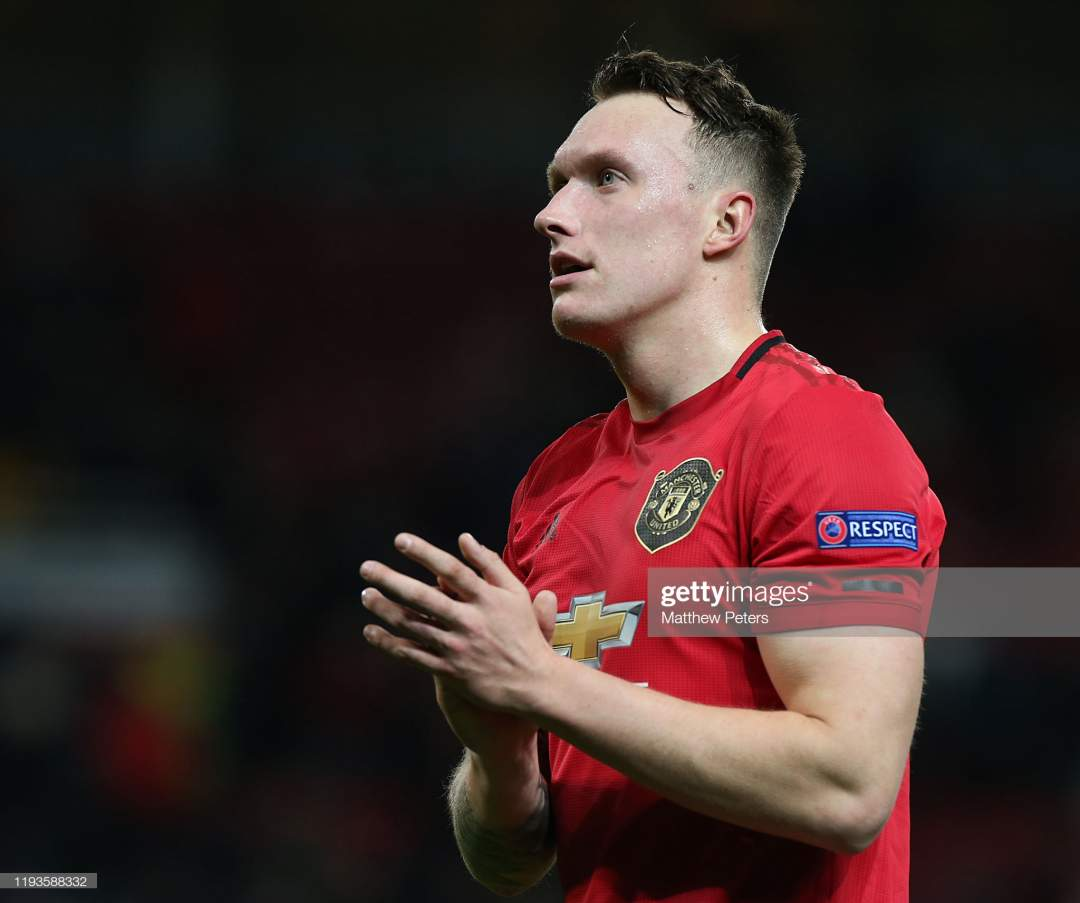Phil Jones Of Manchester United Walks Off After The Uefa Europa L Picture Id1193588332?s=28