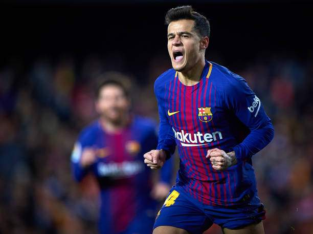 Philippe Coutinho Of Barcelona Celebrates After Scoring A Gol During Picture Id915908878?k=6&m=915908878&s=&w=0&h=1mCwUjfwvHEl1zvZ8G668HxrnkFV4AQwp4JaqAU9pzg=