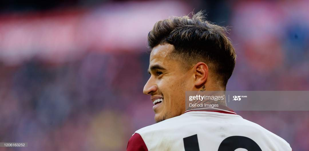Philippe Coutinho Of Bayern Muenchen Looks On During The Bundesliga Picture Id1206163252?s=28