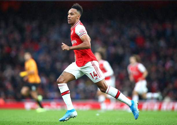 Pierreemerick Aubameyang Of Arsenal During The Premier League Match Picture Id1185124619?k=6&m=1185124619&s=&w=0&h=LHGzDDlE7WPs1ORcxHPz0urF8xUa4yjvBlwhDaL55JM=