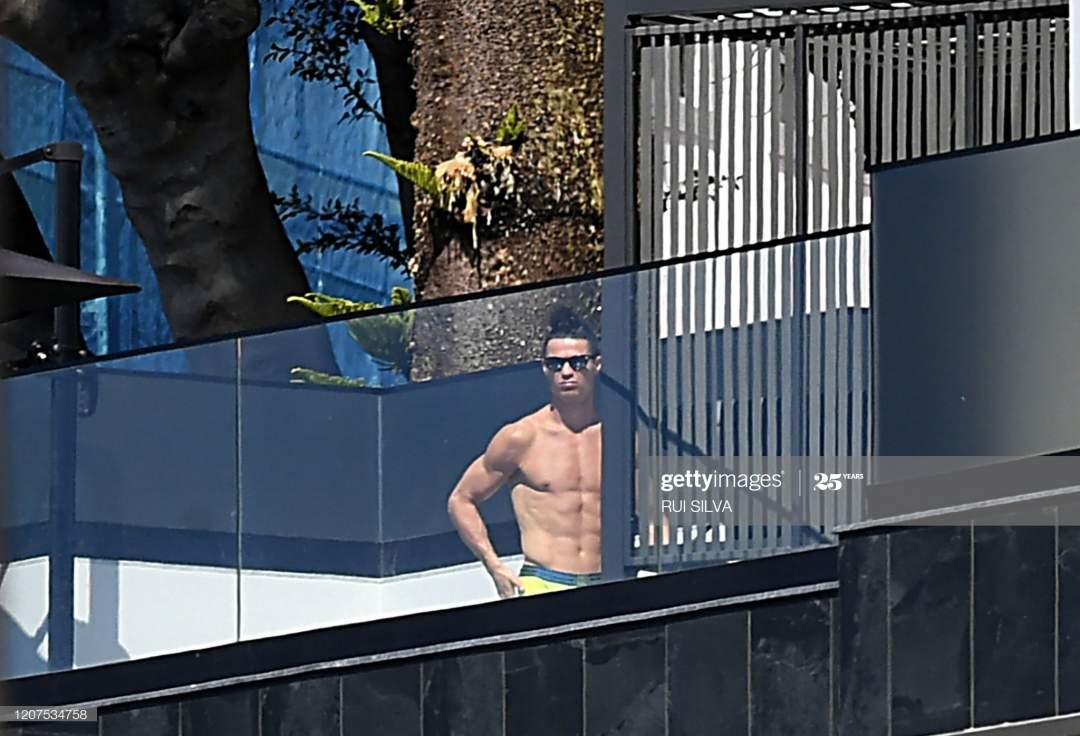 Portugal And Juventus Portuguese Forward Cristiano Ronaldo Sunbathes Picture Id1207534758?s=28