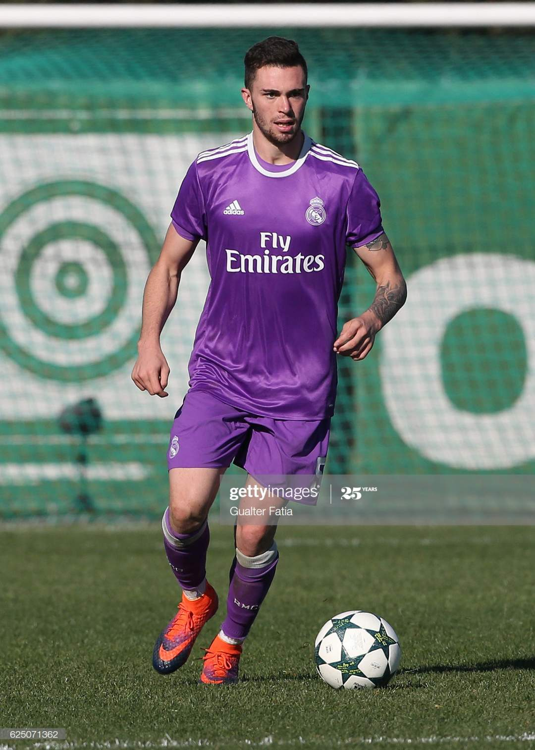 Real Madrids Defender Manu Hernando In Action During The Uefa Youth Picture Id625071362?s=28