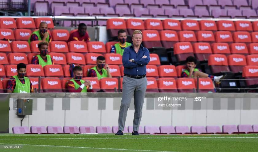 Ronald Koeman Head Coach Of Fc Barcelona Looks On During The Joan Picture Id1273512147?s=28