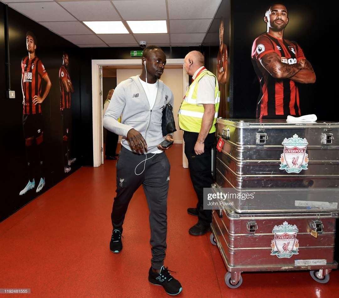 Sadio Mane Of Liverpool Arriving Before The Premier League Match Afc Picture Id1192481555?s=28
