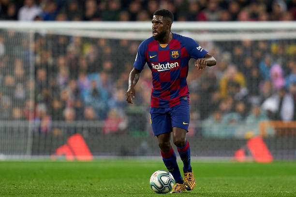 Samuel Umtiti Of Fc Barcelona Runs With The Ball During The Liga Picture Id1209984084?k=6&m=1209984084&s=&w=0&h=e4tLqaOIvwdmmHAue_sT9j1F19jlNhXFXgwMG1a5API=