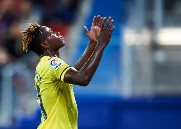 Samuel Chukwueze Of Villarreal Cf Reacts During The La Liga Match Sd Picture Id1184698140?k=6&m=1184698140&s=&w=0&h=7l7Dpne2mBaWYjb6Xefs9L_lYpJJnKuTGb2XrF21obM=