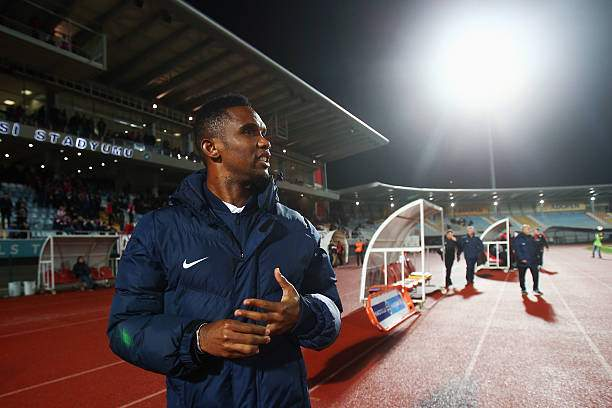 Samuel Etoo Of Antalyaspor Looks On During A Friendly Match Between Picture Id503858036?k=6&m=503858036&s=&w=0&h=MA H4ftyswETAdqWPcqMQiLuU5hOH3hkwjrTaZ1S24s=