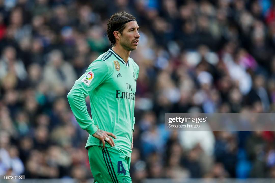 Sergio Ramos Of Real Madrid During The La Liga Santander Match Real Picture Id1187047490?s=28