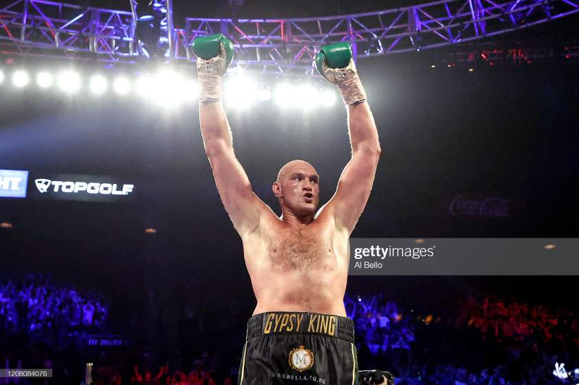 Tyson Fury reacts to Anthony Joshua's victory over Kubrat Pulev