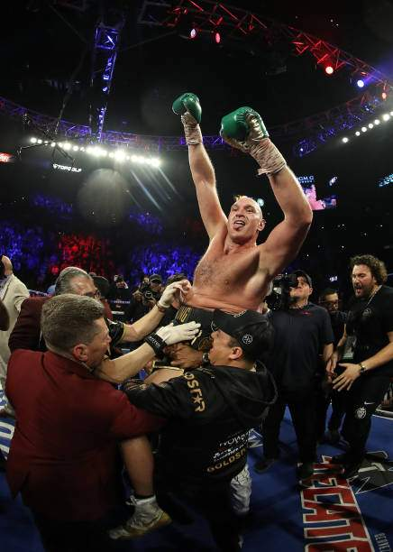 Tyson Fury Celebrates His Win By Tko In The Seventh Round Against Picture Id1208428852?k=6&m=1208428852&s=&w=0&h=QP0KyxQ54YhOBUJ6pEloyqsm4TaD3UvSlHZAUln4fJI=
