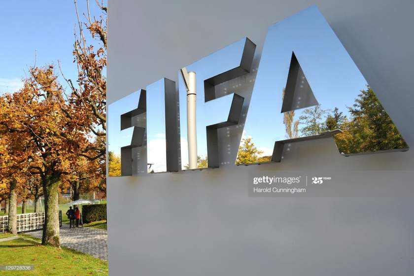The Fifa Logo Is Seen Outside The Fifa Headquarters Prior To The Fifa Picture Id129728336?s=28