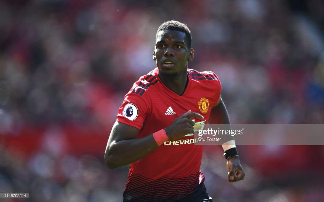 United Player Paul Pogba In Action During The Premier League Match Picture Id1148702214?s=28