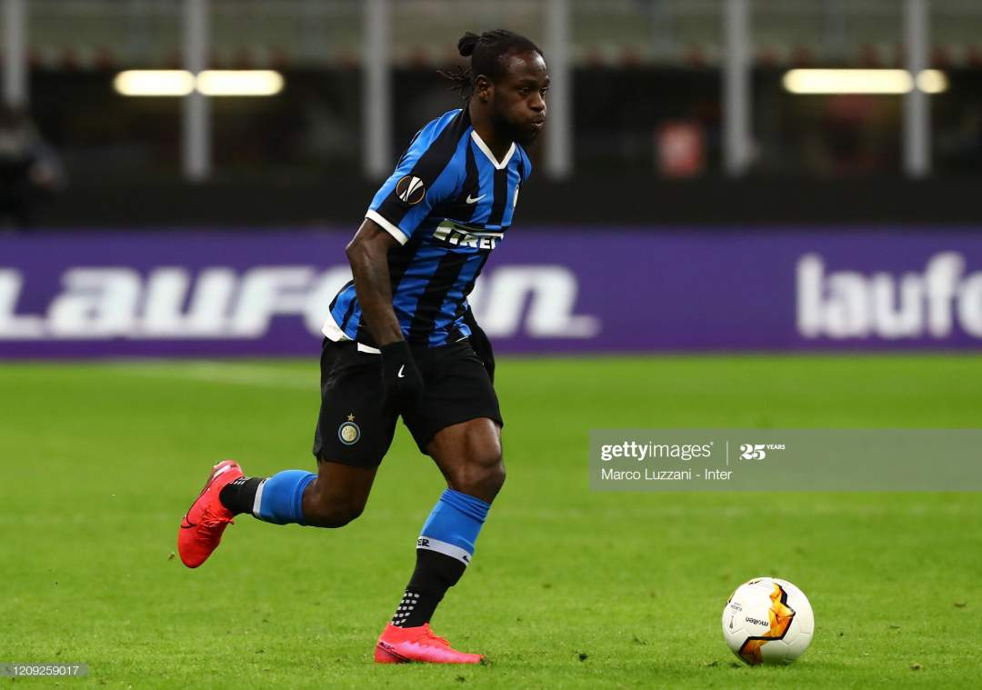 Victor Moses Of Fc Internazionale In Action During The Uefa Europa Picture Id1209259017?s=28