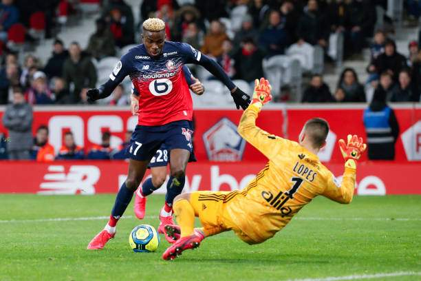 Victor Osimhen Of Lille Osc Shoots The Ball Against Anthony Lopes Of Picture Id1211537662?k=6&m=1211537662&s=&w=0&h=YonoGSD03snbwOcMBy21pG2khgToCps5TtgSpRKbtrQ=