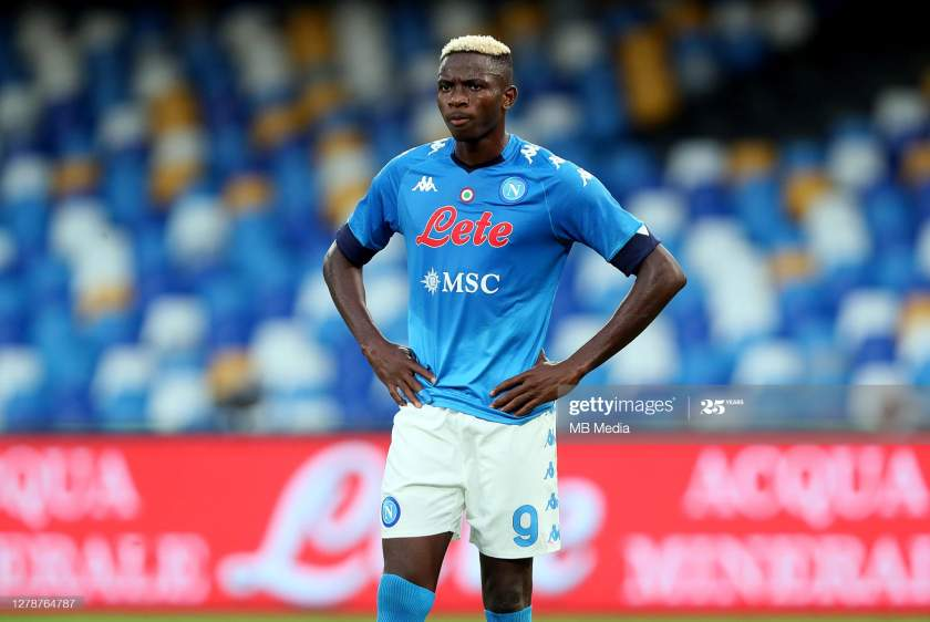 Victor Osimhen Of Ssc Napoli On Action During The Serie A Match Ssc Picture Id1278764787?s=28