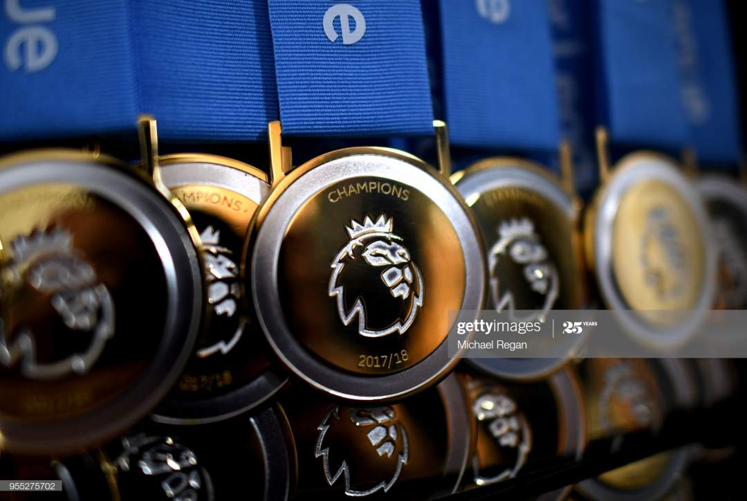 View Of The Premier League Winners Medals Prior To The Premier League Picture Id955275702?s=28