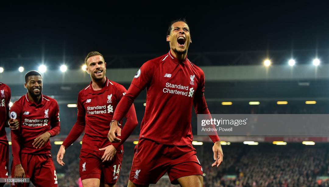 Virgil Van Dijk Of Liverpool Celebrates After Socing The Forth Goal Picture Id1132628441?s=28