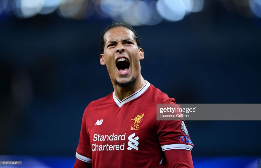 Virgil Van Dijk Of Liverpool Celebrates His Sides Victory After The Picture Id944403354?s=28