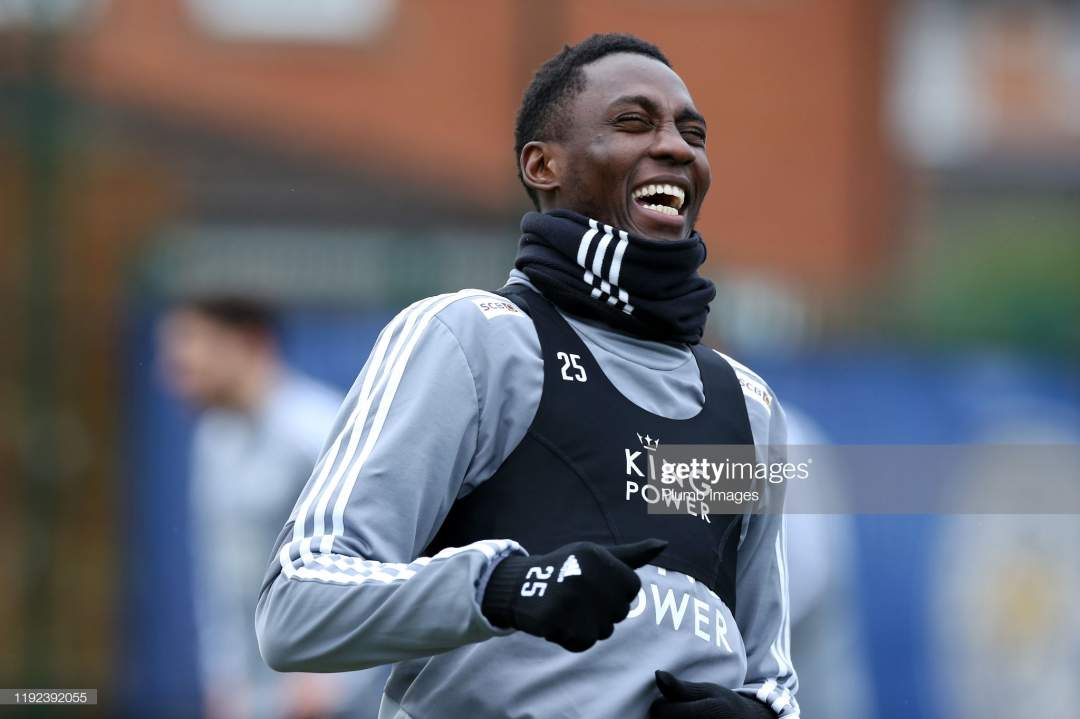 Wilfred Ndidi Of Leicester City During The Leicester City Training Picture Id1192392055?s=28