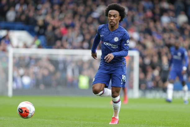 Willian Of Chelsea In Action During The Premier League Match Between Picture Id1206328743?k=6&m=1206328743&s=&w=0&h=L_xkvFfJmsyrH3uewm9BkySzAfSlyIEnSsaYE4dswA8=