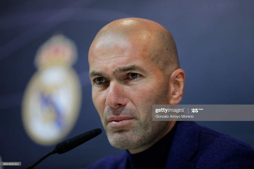 Zinedine Zidane Attends A Press Conference To Announce His As Real Picture Id964465052?s=28