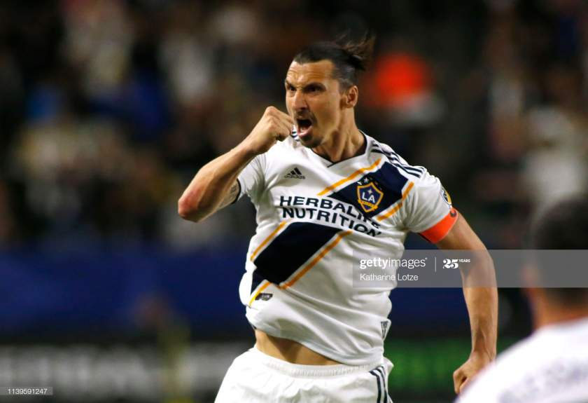 Zlatan Ibrahimovic Of Los Angeles Galaxy Celebrates A Goal During The Picture Id1139591247?s=28