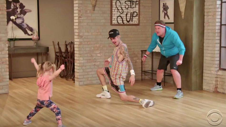 Justin Bieber and James Corden copying toddlers' dance moves is just adorable
